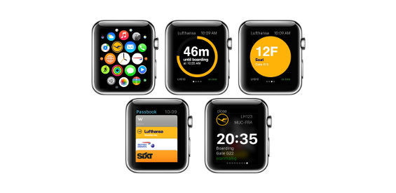 neue lufthansa app f r die apple watch informiert ber den. Black Bedroom Furniture Sets. Home Design Ideas