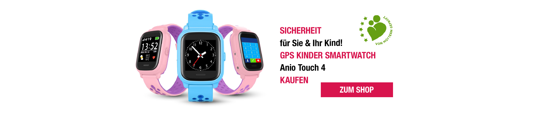 Kinder Smartwatch - Anio 4 Touch
