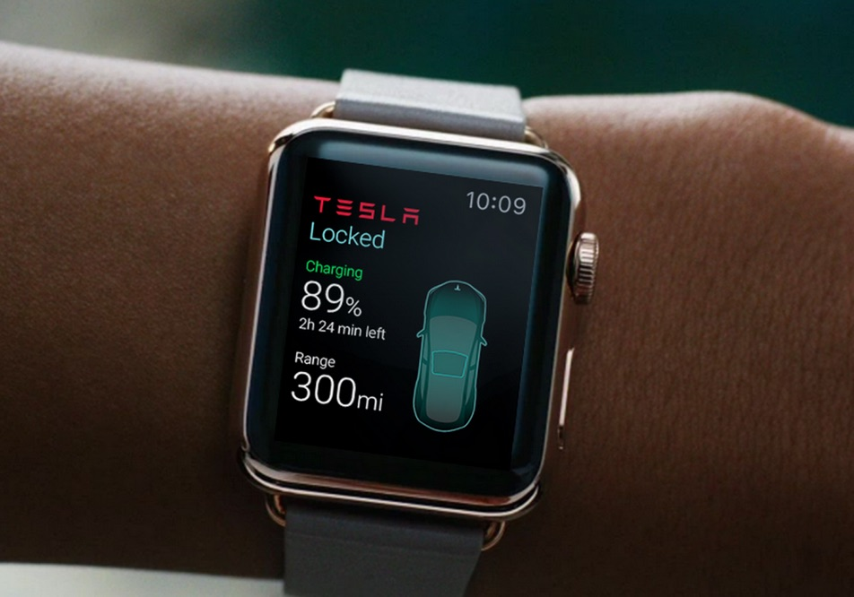 apple watch app f r tesla autos wird entwickelt. Black Bedroom Furniture Sets. Home Design Ideas