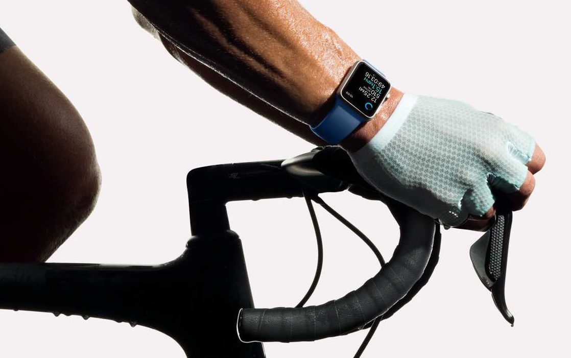 Apple Watch Series 2 Fahrrad