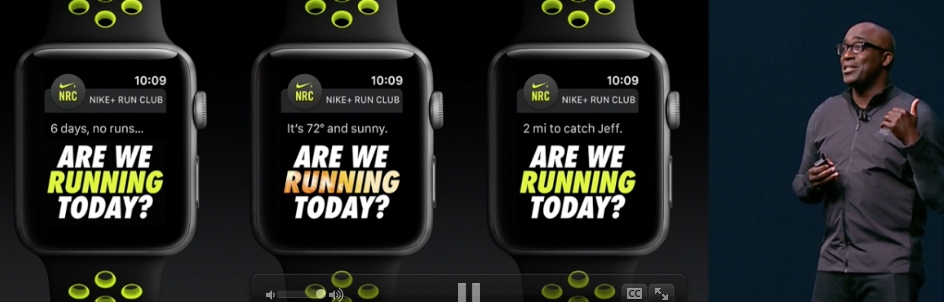 Apple Watch Series 2 Nike Kooperation Keynote