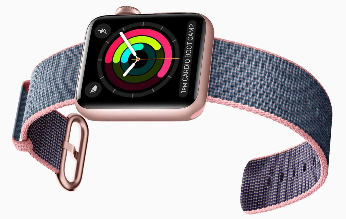 Apple Watch Series 2 Varianten - Rosegold/Blau