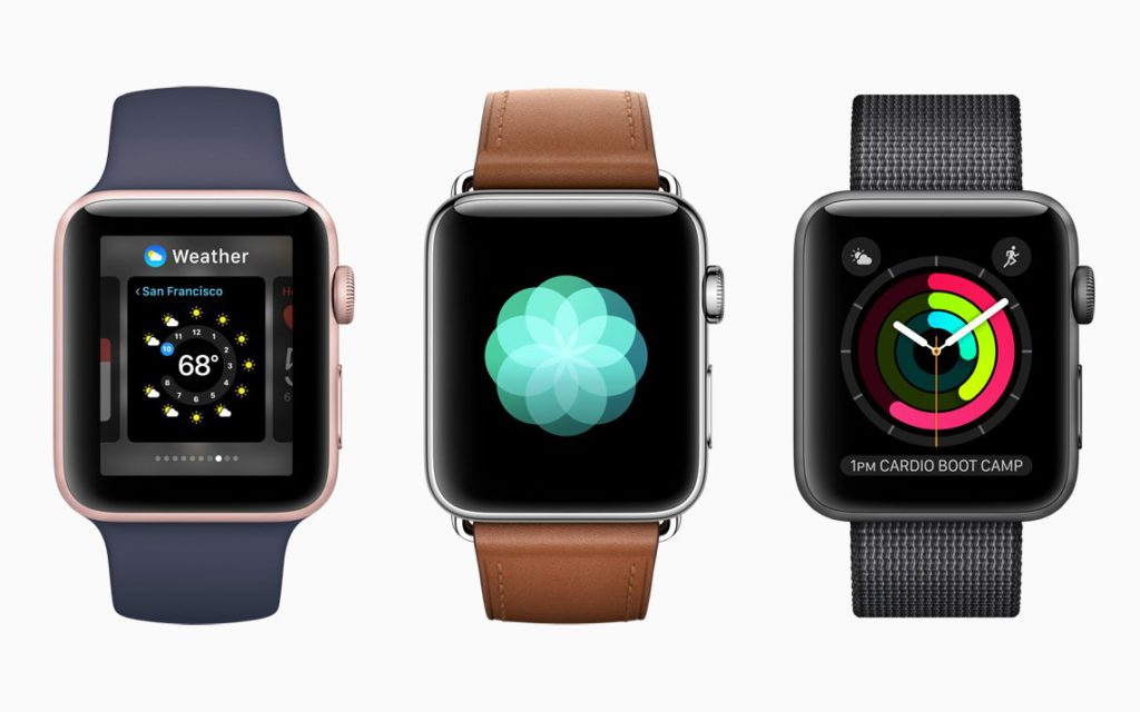 Apple Watch Series 2 Varianten - Blau/Braun/Schwarz