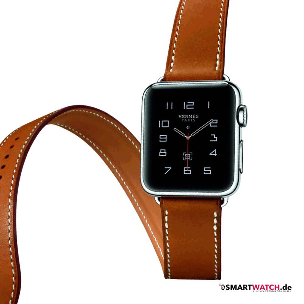 Apple Watch Hermes - Braun/Silber