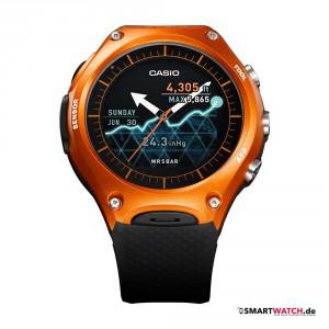 Casio WSD F10 - Schwarz/Orange