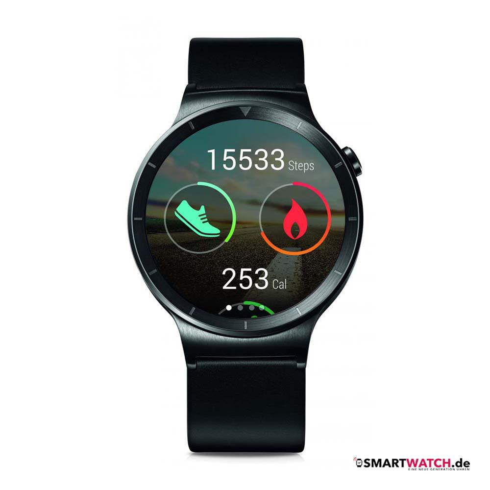 Huawei Watch Active - Schwarz/Leder