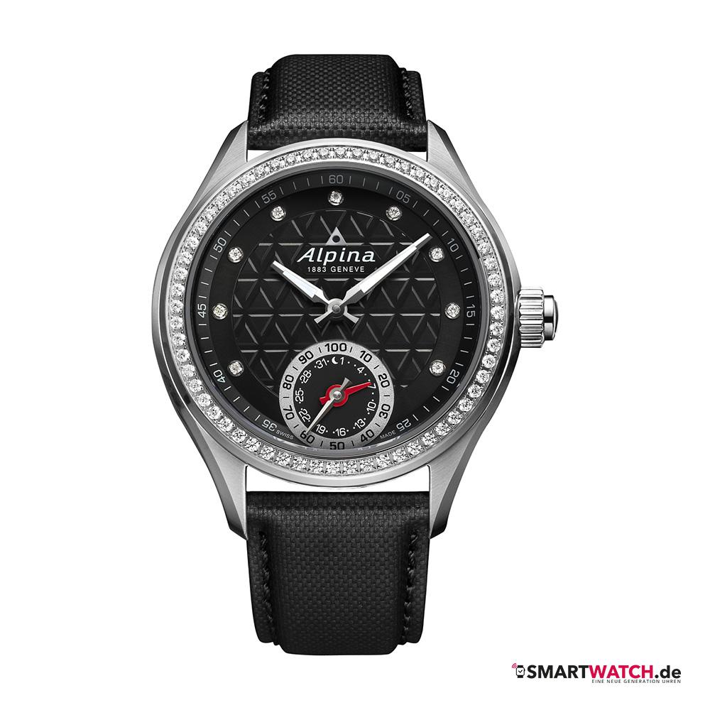 Alpina Horological Ladies - Schwarz/Diamanten