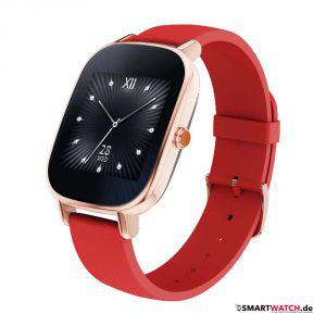 Asus Zenwatch 2 - 37mm Silikon - Rosegold/Rot