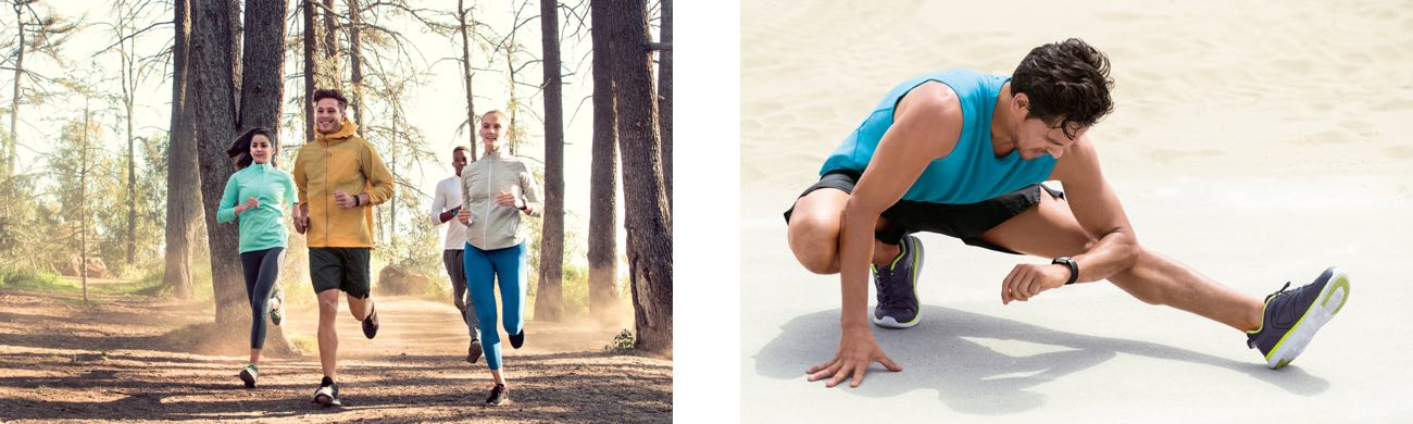Fitbit Charge 2 Laufsport Gruppe und Stretching
