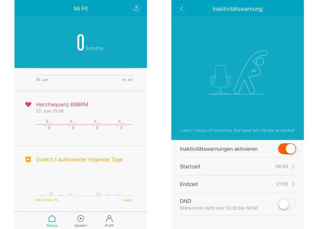 Xiaomi Mi Fit App Fitness Mi Band 2