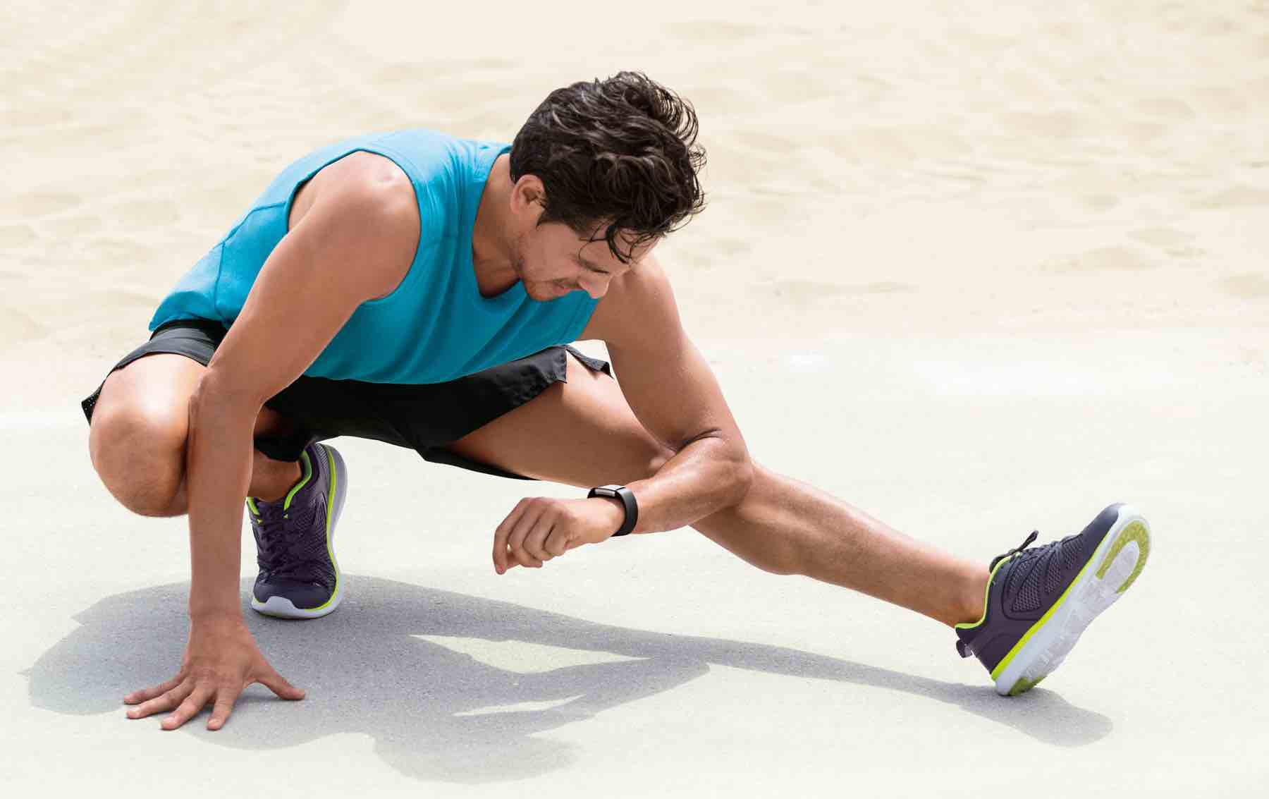 Fitbit Charge 2 Lifestyle Laufen Stretching