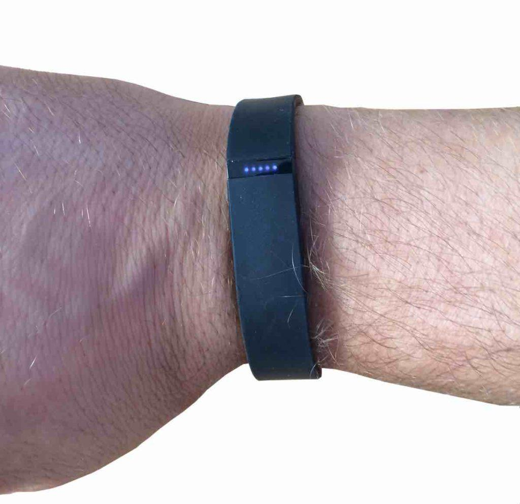 Fitbit Flex am Arm LEDs