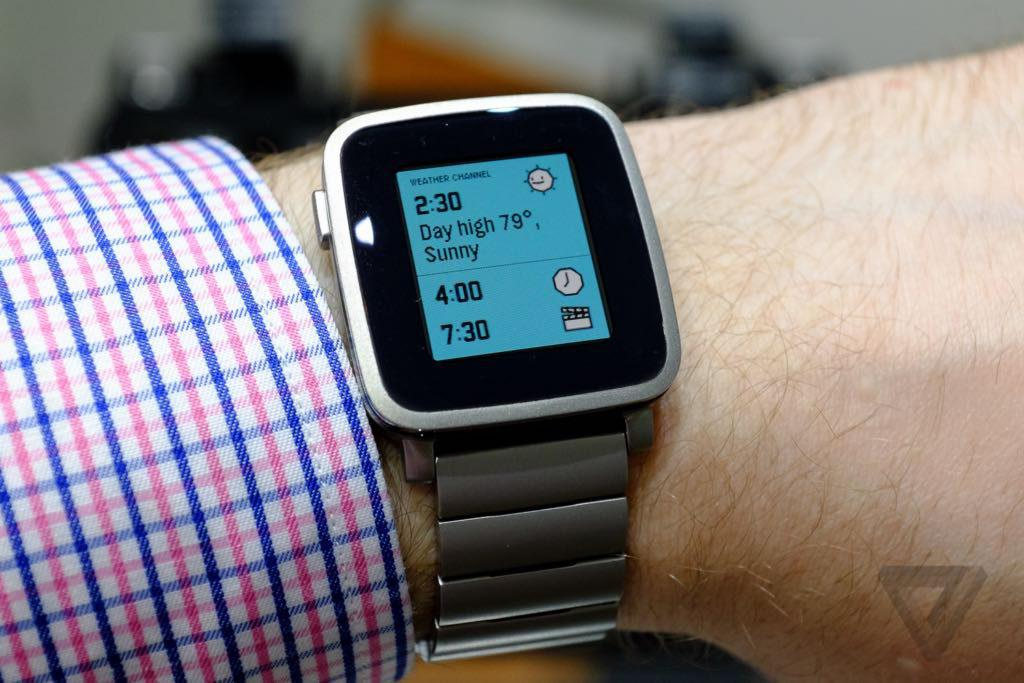 Pebble Time Steel am Arm