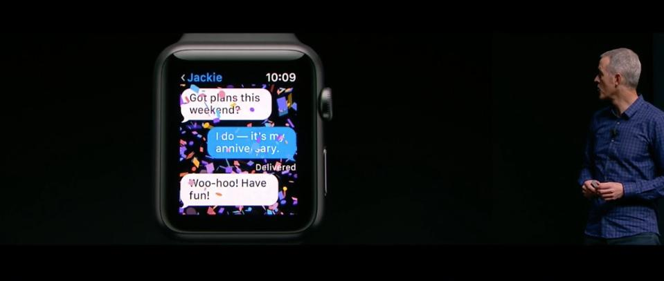 Apple Watch Series 2 Messages Keynote