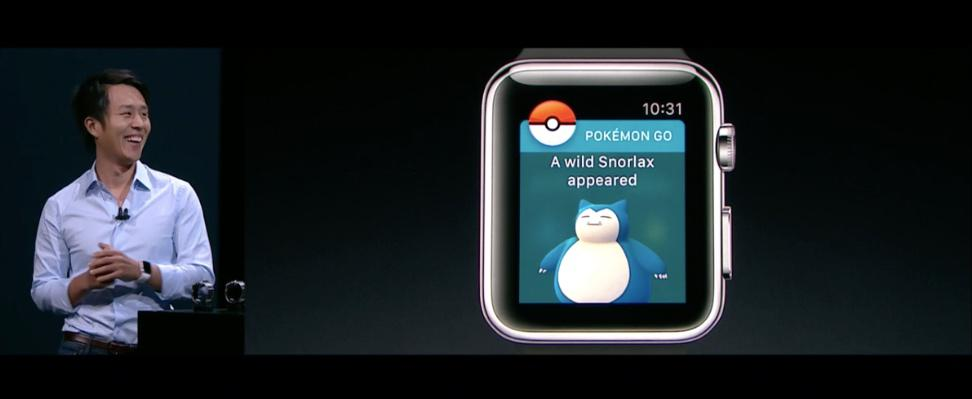 Apple Watch Series 2 Pokemon Go Keynote