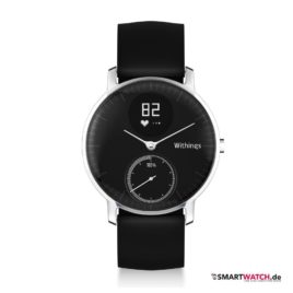Withings Steel HR - 36 mm, Schwarz/Silber