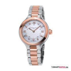 Frederique Constant Horological Smartwatch, Damen - Silber/Rosegold/Diamanten