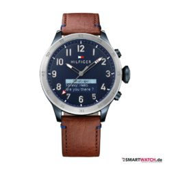 Tommy Hilfiger TH24/7 Smart Watch - Braun/Silber - blaues Zifferblatt
