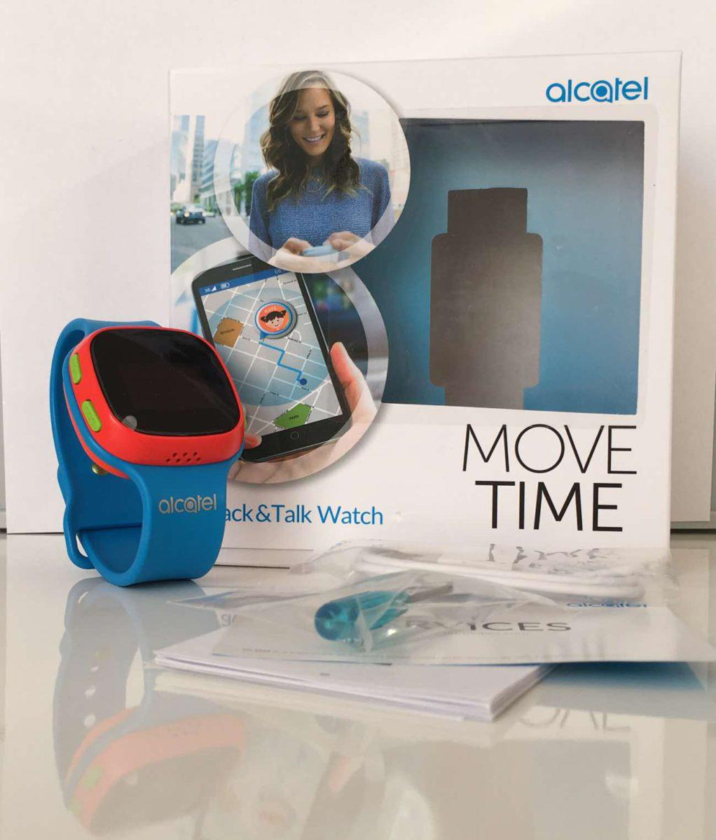 Alcatel Move Time Track and Talk Verpackung und Lieferumfang