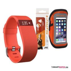 Fitbit Charge HR - Set Orange Größe S