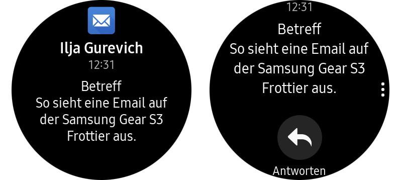 Samsung Gear S3 Frontier E-Mail