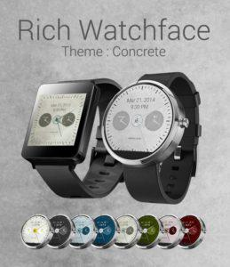Rich Watchface TL Adroid Wear