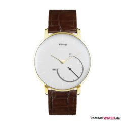 Withings Activite Steel Gold Edition - Leder - Braun/Gold