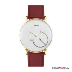 Withings Activite Steel Gold Edition - Leder - Rot/Gold