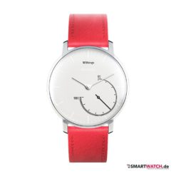 Withings Activite Steel Special Edition - Leder - Rot/Silber
