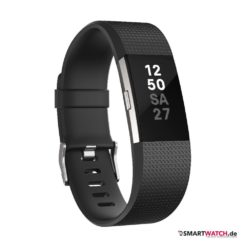 Fitbit Charge 2 - Set / Schwarz plus Lederarmband