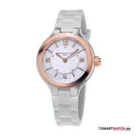 Frederique Constant Horological Smartwatch Notify, Silikon - Weiß/Rosegold