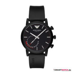 Emporio Armani Connected, Leder - Schwarz