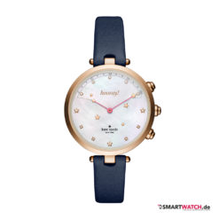 Kate Spade New York Hybrid Smartwatch Holland, Leder - Blau/Rosegold