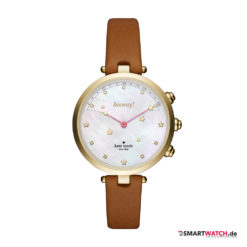 Kate Spade New York Hybrid Smartwatch Holland, Leder - Braun/Gold