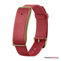 Huawei Band A1, Leder - Rot/Gold