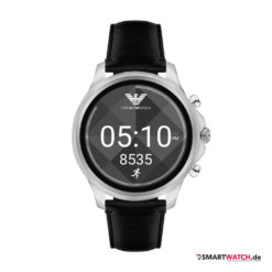 Emporio Armani Connected Touchscreen Smartwatch, Shawn Mendes Edition, Leder - Schwarz/Silber