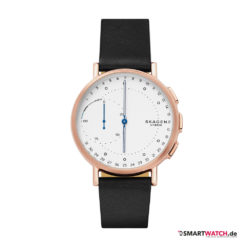 Skagen Connected Signature, Leder - Schwarz/Rosegold