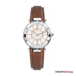 Michel Herbelin Newport Connected, Damen, Leder - Braun/Silber/Rosegold