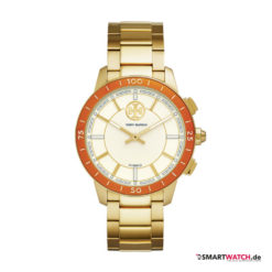 Tory Burch Collins Hybrid Smartwatch, Gliederarmband - Gold/Orange/Weiß