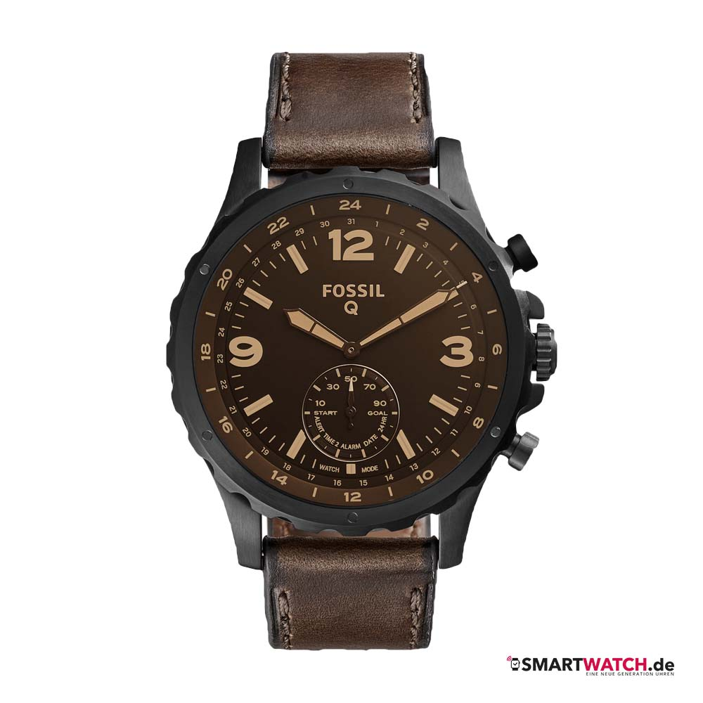 fossil q nate how to watch date