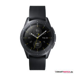 Samsung Galaxy Watch, Silikon - Schwarz (42mm) - Front