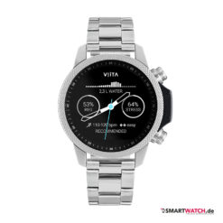 VIITA Active HRV Adventure - 46,5mm, Gliederarmband - Silber