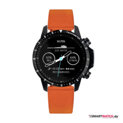 VIITA Active HRV Tachymeter - 46,5mm, Silikon - Orange/Schwarz