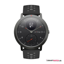 Withings Steel HR Sport, Silikon - Schwarz/Grau