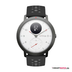 Withings Steel HR Sport, Silikon - Schwarz/Grau/Weiß