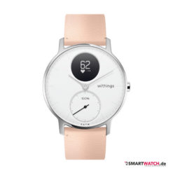Withings Steel HR Regular - 36mm, Leder - Peach/Weiß/Silber