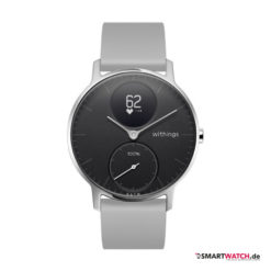 Withings Steel HR Regular - 36mm, Silikon - Grau/Silber