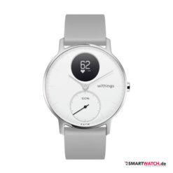 Withings Steel HR Regular - 36mm, Silikon - Grau/Weiß/Silber