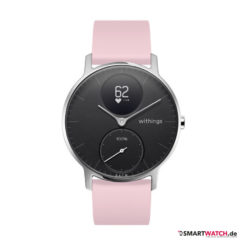Withings Steel HR Regular - 36mm, Silikon - Pink/Silber
