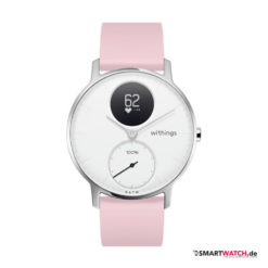 Withings Steel HR Regular - 36mm, Silikon - Pink/Weiß/Silber